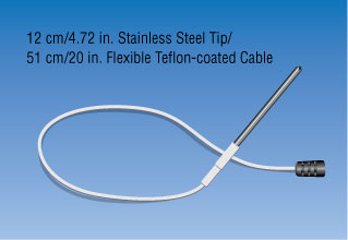12cm / 4.72in. Stainless Steel Tip.