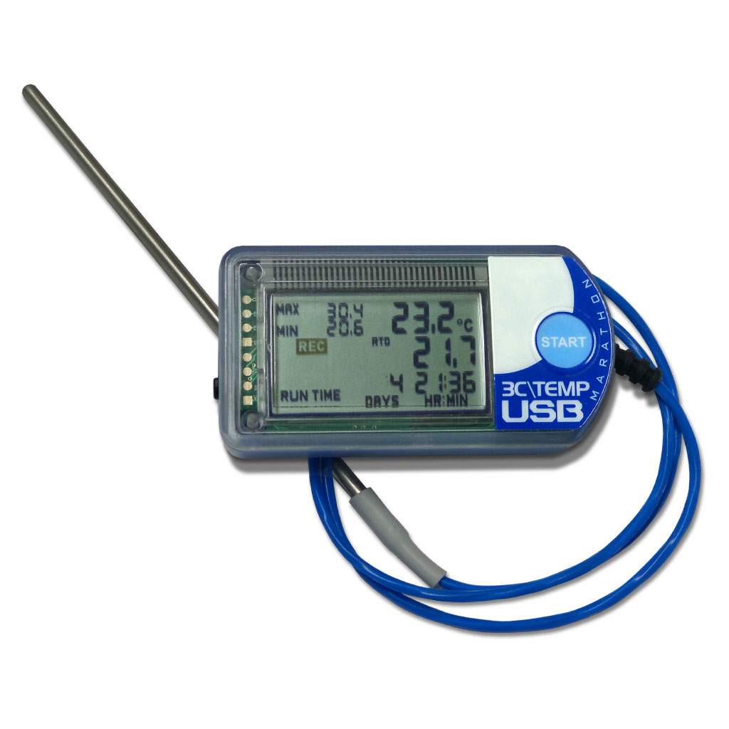 3CTEMP-USB RTD2 NFC Enabled Temperature Logger