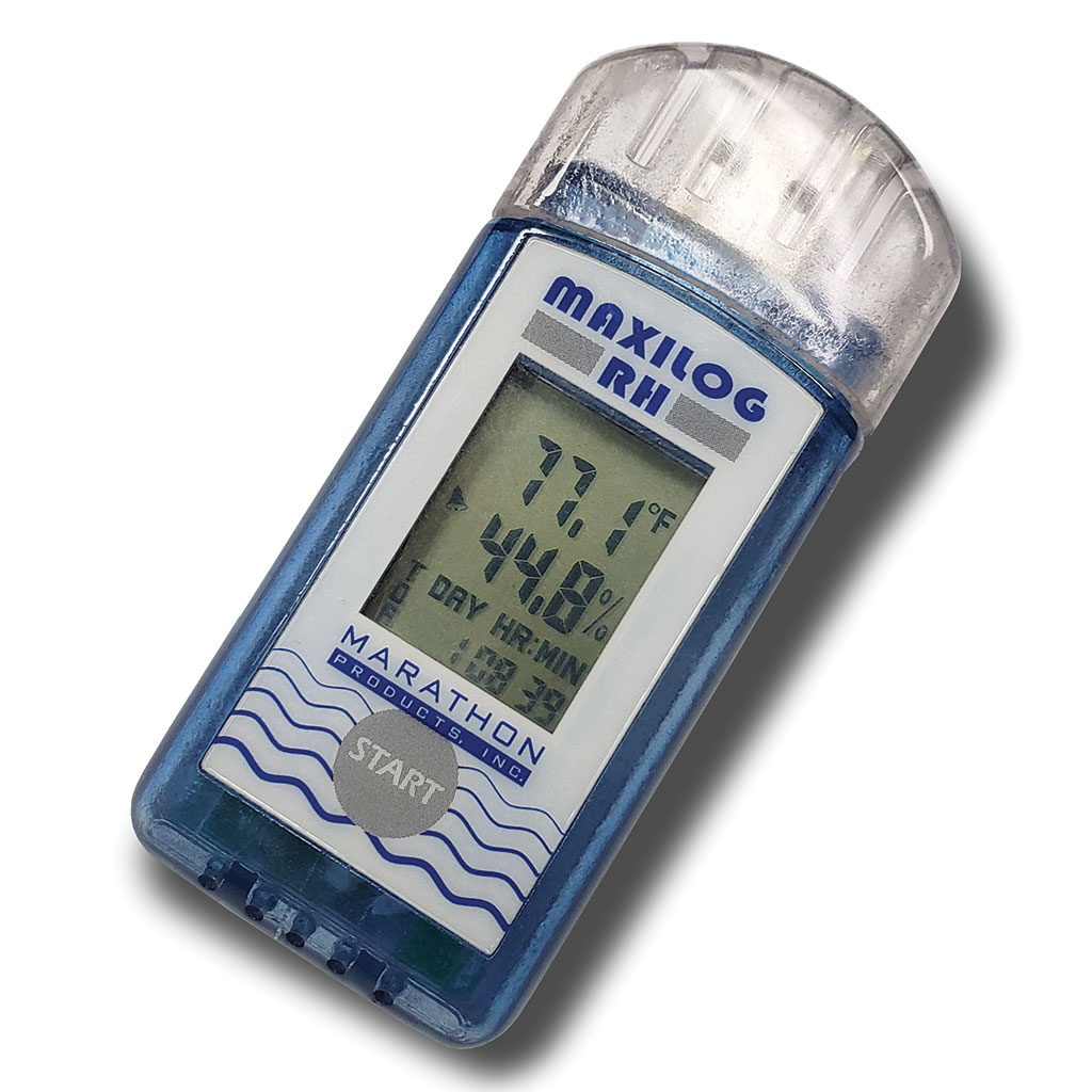 MaxiLog-RH Single-Use Temperature & Humidity Data Logger.