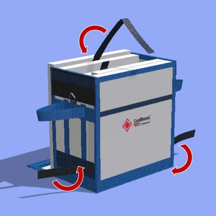 Remove velcro straps