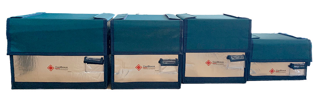 Four sizes of CoolBoxus shippers